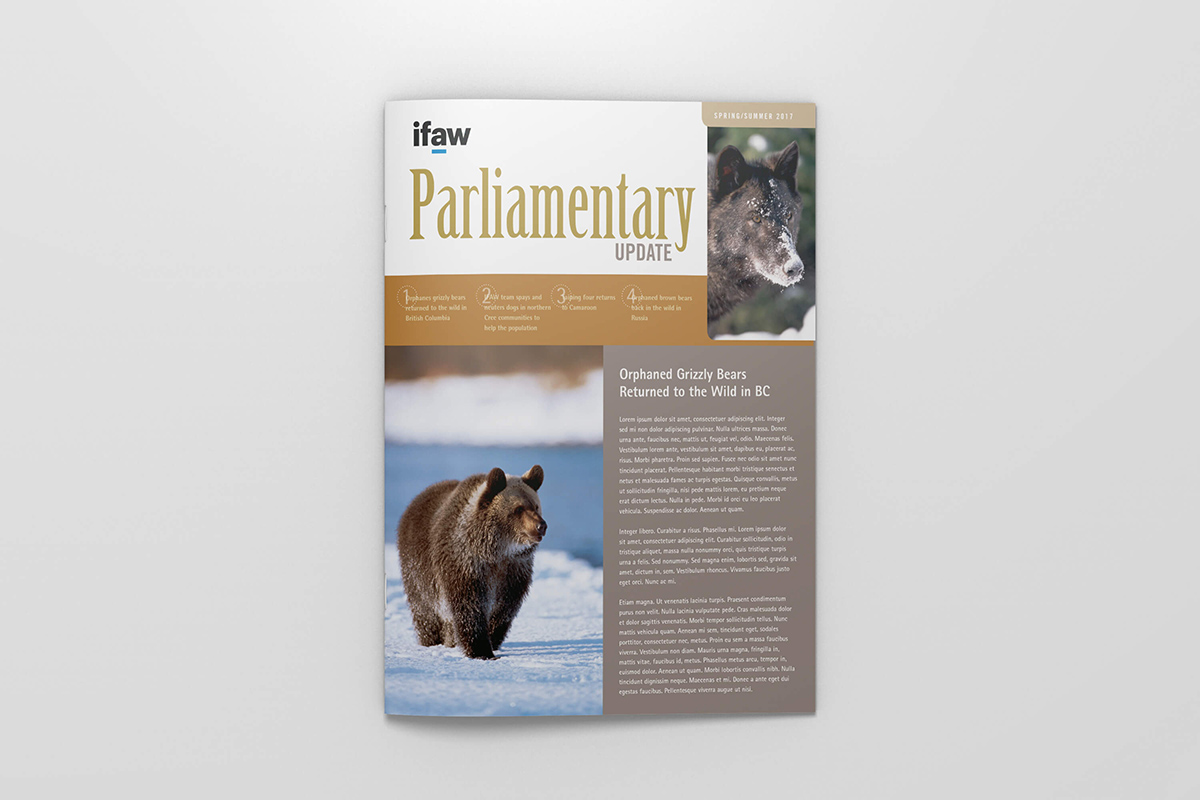 IFAW Parliamentary Update Newsletter cover